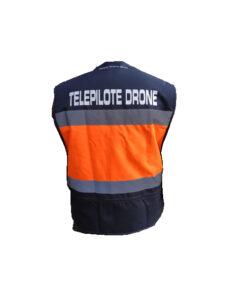 Gilet de travail haute visibilité et marquage Télépilote drone