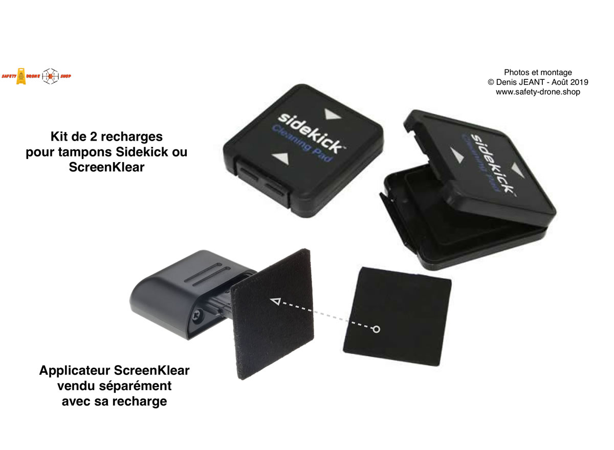 Kit de 2 recharges pour Sidekick ou ScreenKlean